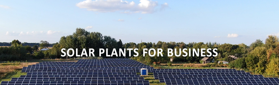 Solar plants for business
