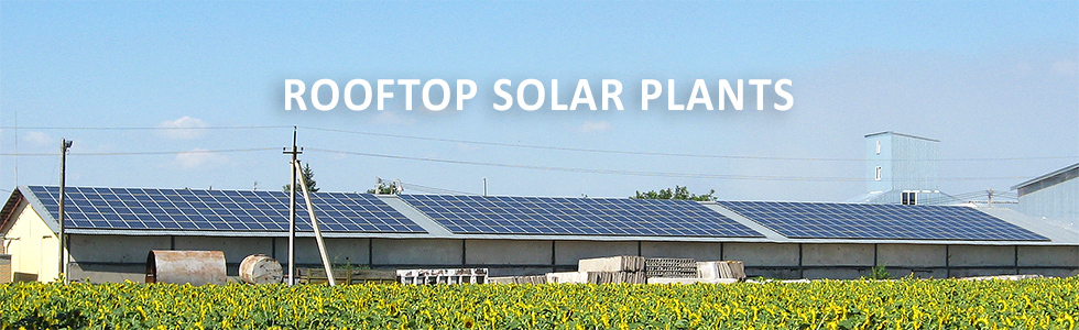 Rooftop solar plants